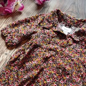 4T Shirt Dress Little Girls Floral button up